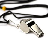 Cover: crown sporting goods stainless steel coach whistle with lanyard