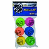 Cover: franklin nhl mini hockey replacement foam balls (assorted colors)
