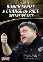 Cover: greg kampe: bunch series & change of pace offensive sets