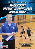 Cover: bryan petersen: half court offensive principles and actions