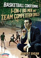 Cover: basketball conditioning: 1-on-1, big men and team competition drills