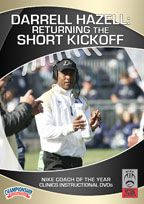 Cover: darrell hazell: returning the short kickoff