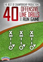 Cover: the best of championship productions: 40 offensive line drills for the run game
