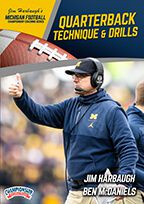 Cover: michigan football series: quarterback technique & drills