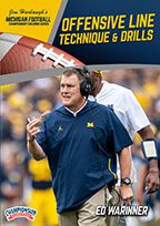 Cover: michigan football series: offensive line technique & drills
