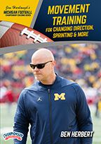 Cover: michigan football series: movement training for changing direction, sprinting & more
