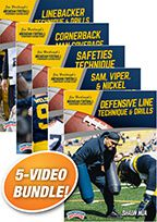 Cover: michigan football series: techniques & drills for defensive position play
