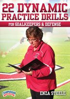 Cover: 22 dynamic practice drills for goalkeepers and defense