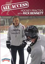 Cover: all access hockey practice with rick bennett