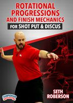 Cover: rotational progressions and finish mechanics for shot put and discus