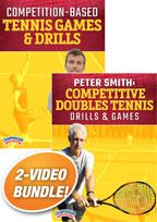 Cover: peter smith: games & drills for tennis 2-pack