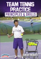 Cover: team tennis practice principles & drills
