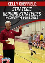 Cover: strategic serving strategies + competitive 6-on-6 drills