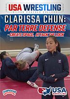 Cover: clarissa chun: par terre defense - create space, attack the lock