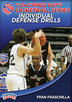 Cover: aau coaching boys basketball series: individual defense drills